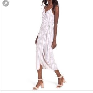 WAYF striped midi dress